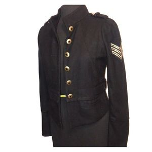 Zara black military Jacket Sargent Size Small